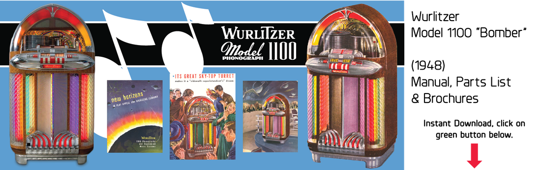 Wurlitzer Jukebox Manuals & Literature, Instant PDF