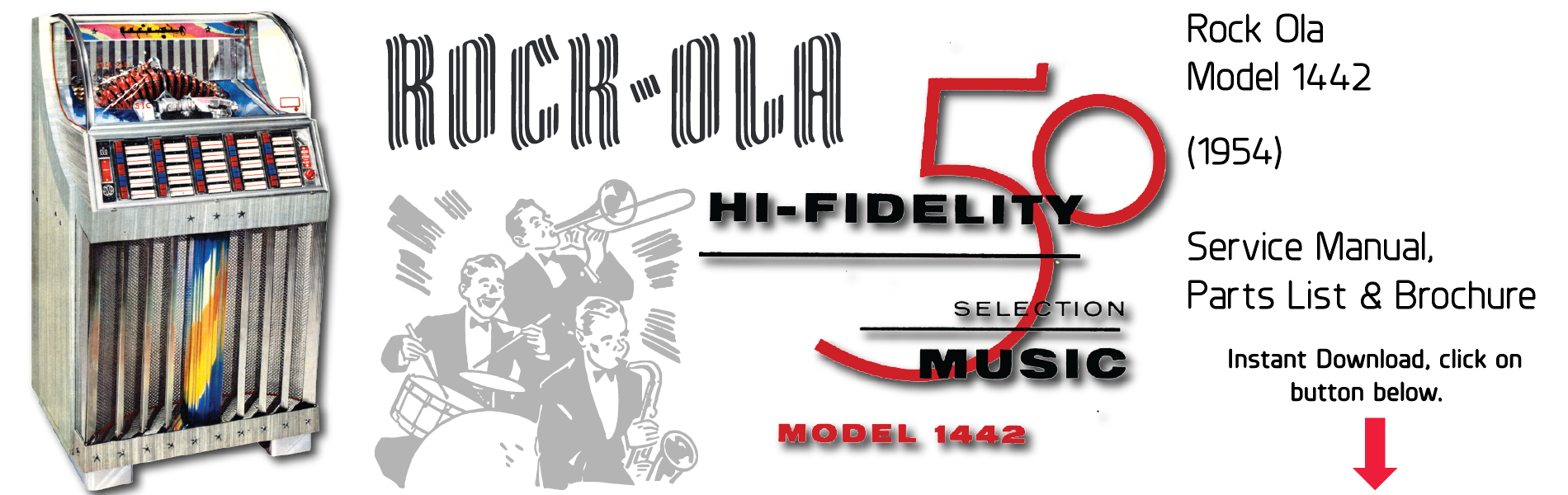 Rock-Ola 1442 (1954) Amplifier Schematics & Brochures