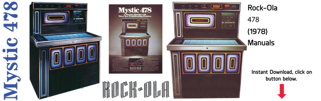 "Rock-Ola 478 ""Mystic"" (1978) Manuals & Flyer Cover"