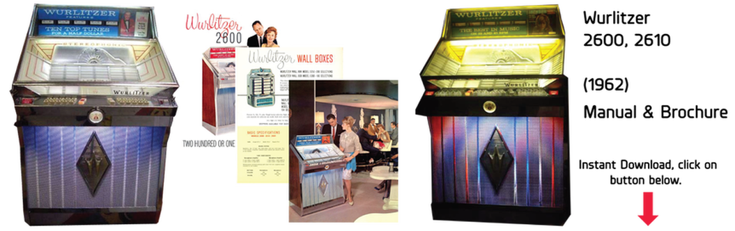Wurlitzer Model 2600, 2610 (1962) Manual & Brochures
