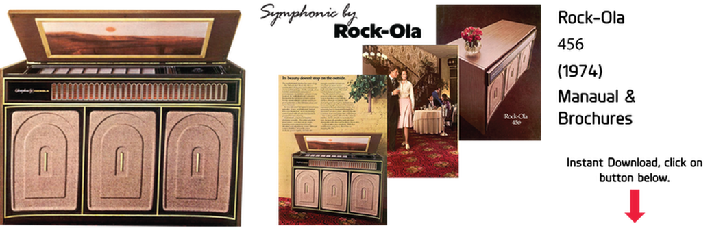 "Rock-Ola 456 ""Console Deluxe"" (1974) Manual & Brochure"