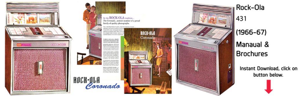 "Rock-Ola 431 ""Coronado"" (1966-67) Manual & Brochure"
