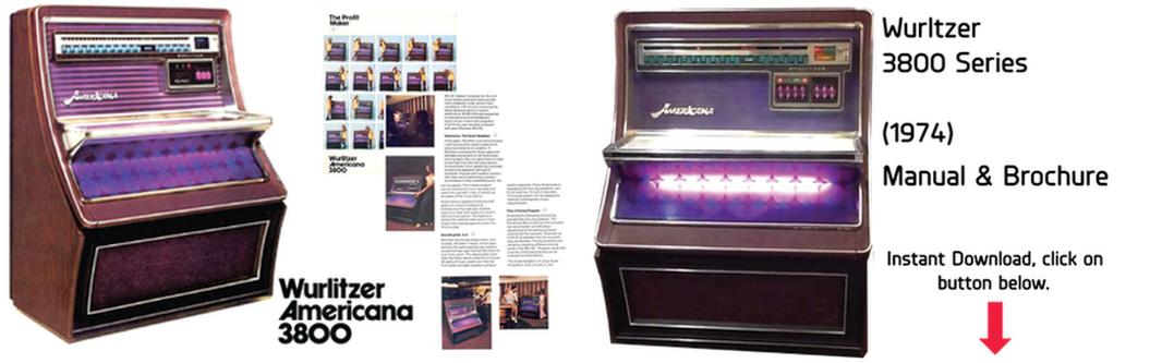 "Wurlitzer 3800 ""Americana"" (1974) Manual & Brochure"