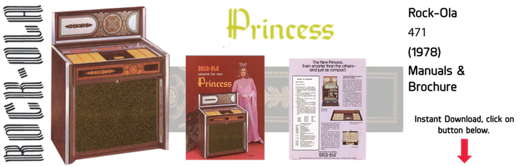 "Rock-Ola 471 ""Princess"" (1978) Manual & Brochure"