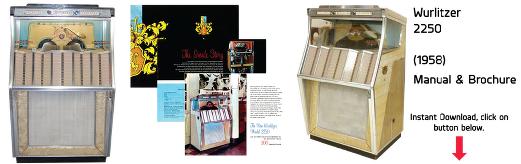 Wurlitzer Model 2250 (1958) Manual & Brochure