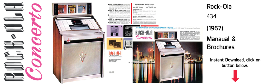 "Rock-Ola 434 ""Concerto"" (1967) Manual & Brochure"