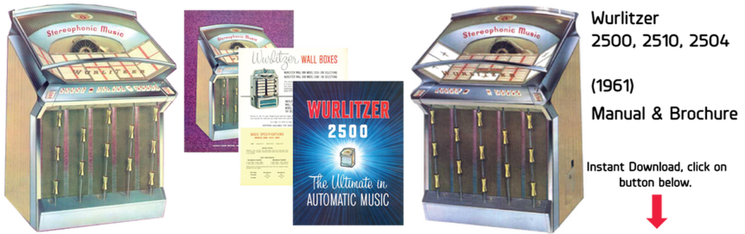 Wurlitzer Model 2500, 2510, 2504 (1961) Manual & Brochures