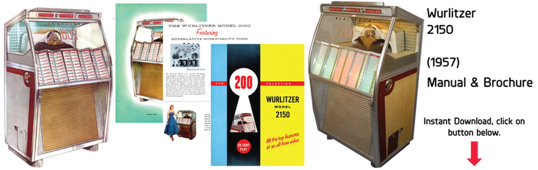 Wurlitzer Model 2150 (1957) Manual & Brochure