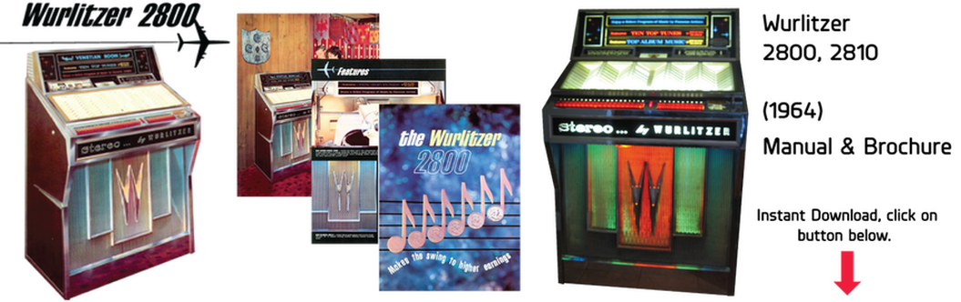 Wurlitzer 2800, 2810 Manual & Brochure