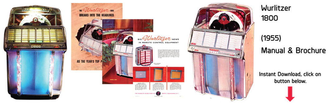 Wurlitzer Model 1800 (1955) Manual & Brochure