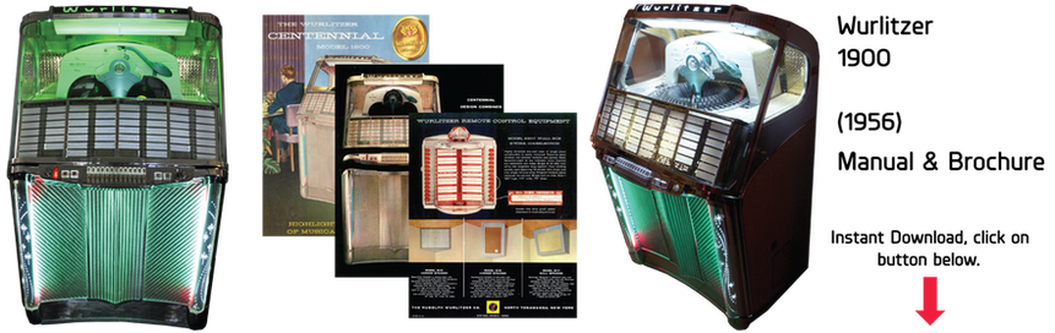 Wurlitzer Model 1900 (1956) Manual & Brochure
