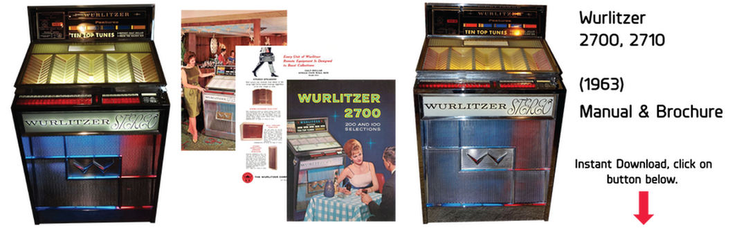 Wurlitzer 2700, 2710 (1963) Manual & Brochure
