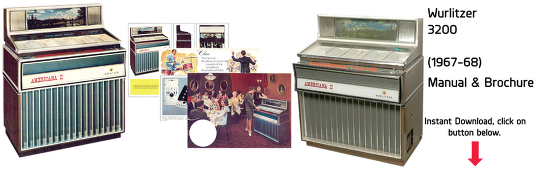 "Wurlitzer 3200 ""Americana II"" (1967-68) Manual & Brochure"
