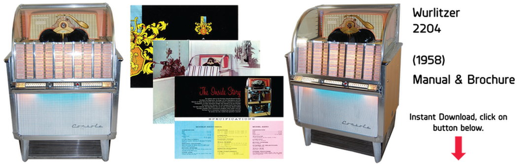 Wurlitzer Model 2204 (1958) Manual & Brochure