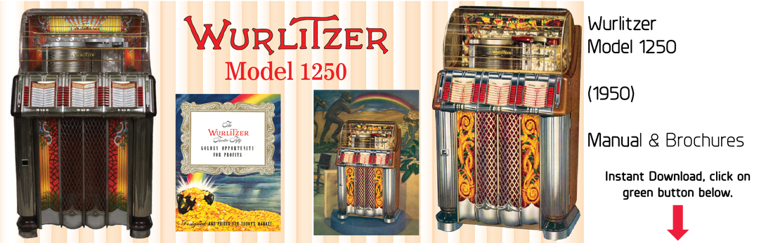 Wurlitzer Model 1250 (1950) Manual & Brochure