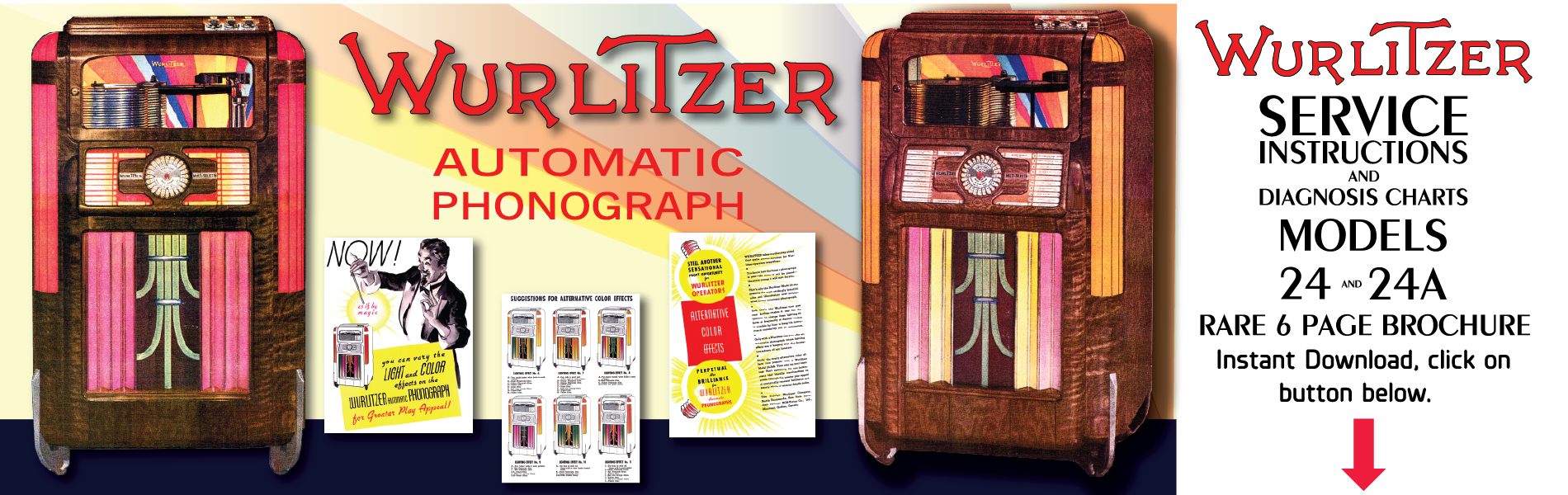 Wurlitzer Model 24 (1937) 6 Page Brochure
